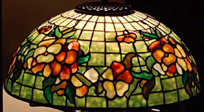 16 PANSY TIFFANY STUDIOS LAMP