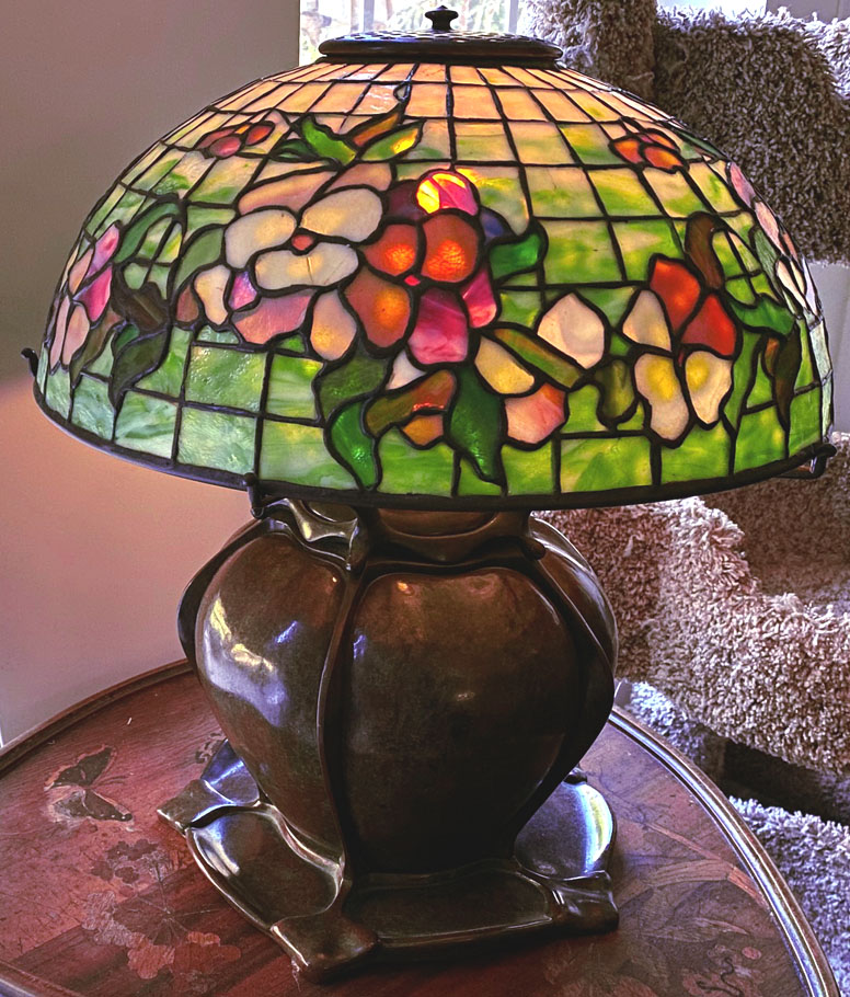 tiffany studios pansy lamp pepper base