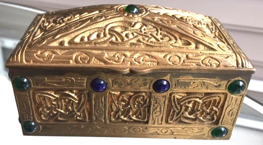 tiffany studios Ninth century stamp box