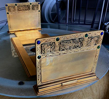 9th century book rack Tiffany studios