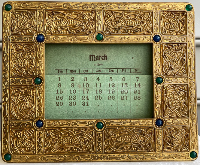 9th century tiffany studios frame