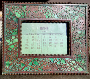 tiffany grapevine large calendar frame