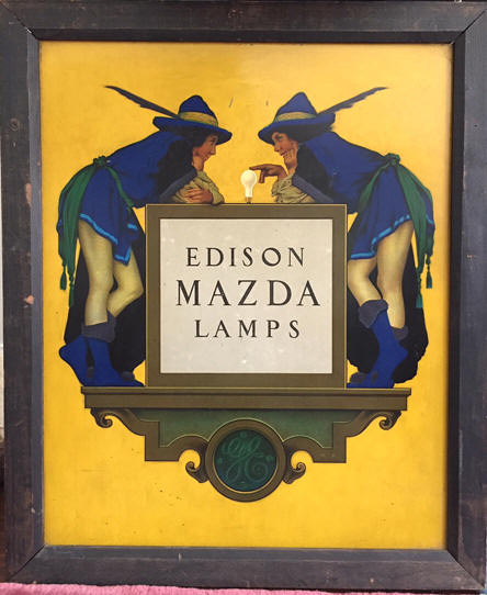 edison mazda lamp sign parrish