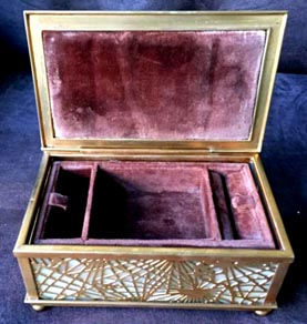 tiffany studios pine needle jewelry box