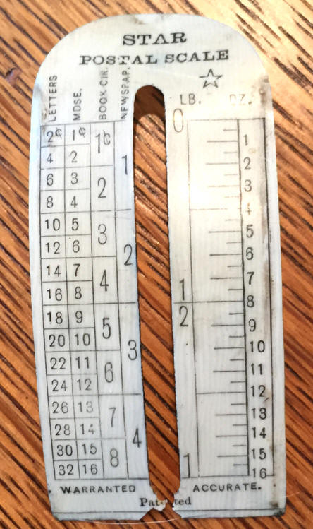postage scale front